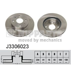 Brake Disc J3306023 NIPPARTS Secure payment — only new parts