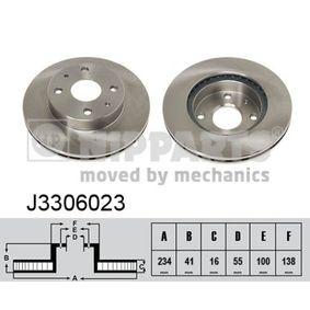 Bromsskiva J3306023 NIPPARTS Säker betalning — bara nya delar