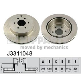 Brake Disc J3311048 NIPPARTS Secure payment — only new parts