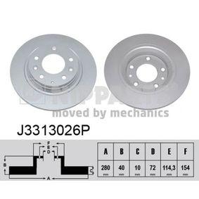 Bremsscheiben J3313026P NIPPARTS Sichere Zahlung - Nur Neuteile