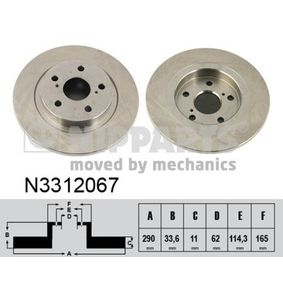 Brake Disc N3312067 NIPPARTS Secure payment — only new parts