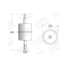 palivovy filtr L104/606 CHAMPION Zabezpečená platba – jenom nové autodíly