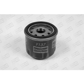 Filtro de óleo F137/606 com uma excecional CHAMPION relação preço-desempenho