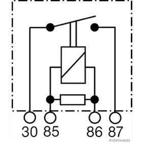 Relé, bomba de combustível 75614615 HERTH+BUSS ELPARTS Pagamento seguro — apenas peças novas