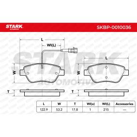 Kit pastiglie freno, Freno a disco STARK SKBP-0010036 comprare e sostituisci