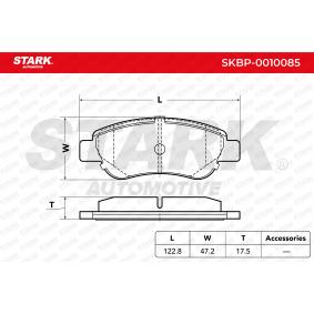 Bremsbelagsatz, Scheibenbremse STARK SKBP-0010085 kaufen und wechseln