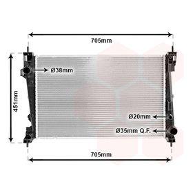 Radiatore, Raffreddamento motore 01002124 con un ottimo rapporto VAN WEZEL qualità/prezzo