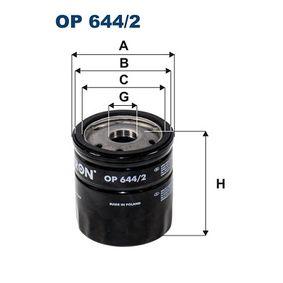 Oljefilter OP644/2 som är helt FILTRON otroligt kostnadseffektivt