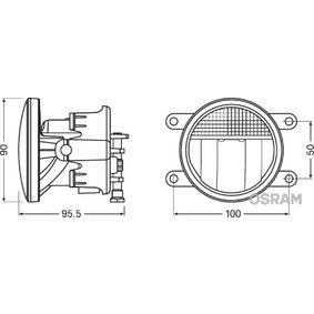 Bloque-optique, projecteur antibrouillard LEDFOG201 OSRAM Paiement sécurisé — seulement des pièces neuves
