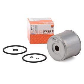 palivovy filtr KX 23D s vynikajícím poměrem mezi cenou a MAHLE ORIGINAL kvalitou