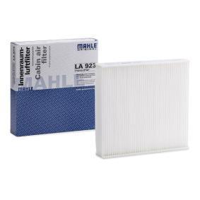 Beställ LA 923 MAHLE ORIGINAL Filter, kupéventilation nu