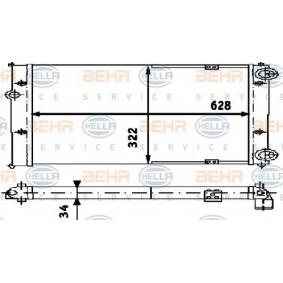 8MK 376 713-304 HELLA Radiatore Raffreddamento Motore