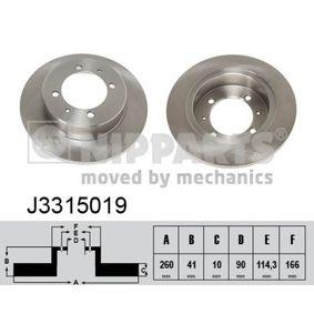 Bremsscheiben J3315019 NIPPARTS Sichere Zahlung - Nur Neuteile