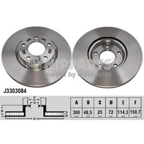 Brake Disc J3303084 NIPPARTS Secure payment — only new parts