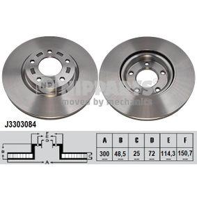 Bromsskiva J3303084 NIPPARTS Säker betalning — bara nya delar