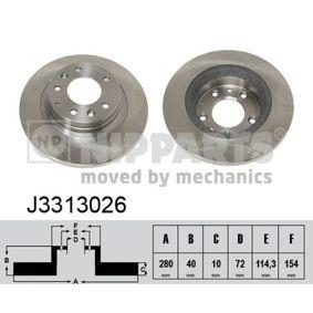 Bremsscheibe von NIPPARTS - Artikelnummer: J3313026