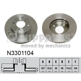 Brake Disc N3301104 NIPPARTS Secure payment — only new parts