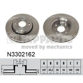 Bremsscheiben N3302162 NIPPARTS Sichere Zahlung - Nur Neuteile