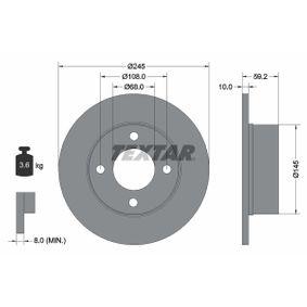Disco de travão 92026100 TEXTAR Pagamento seguro — apenas peças novas