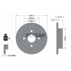 Disque de frein 92103700 TEXTAR Paiement sécurisé — seulement des pièces neuves