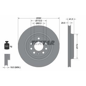 buy and replace Brake Disc TEXTAR 92118400