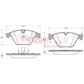 Brake Pad Set, disc brake 0857.50 for BMW 7 Series at a discount — buy now!
