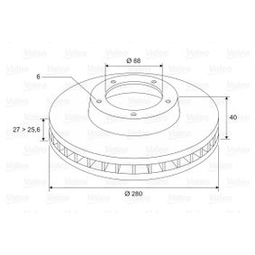 Brake Disc 197469 VALEO Secure payment — only new parts