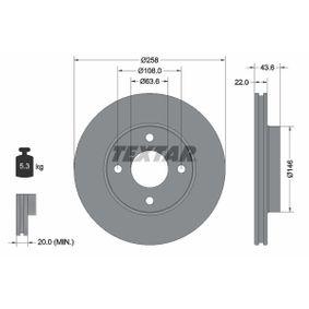 Bromsskiva 92096203 TEXTAR Säker betalning — bara nya delar