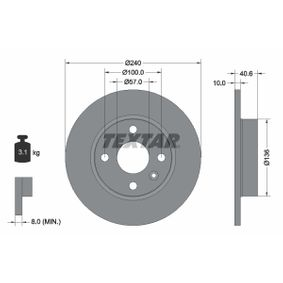 Disque de frein 92111003 TEXTAR Paiement sécurisé — seulement des pièces neuves