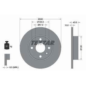Disco de travão 92111003 TEXTAR Pagamento seguro — apenas peças novas