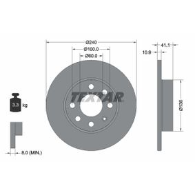 Brake Disc 92111303 TEXTAR Secure payment — only new parts