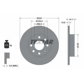 Disco de travão 92111303 TEXTAR Pagamento seguro — apenas peças novas