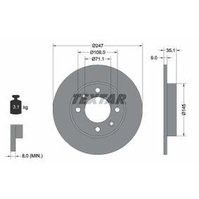 Disque de frein 92111703 à un rapport qualité-prix TEXTAR exceptionnel