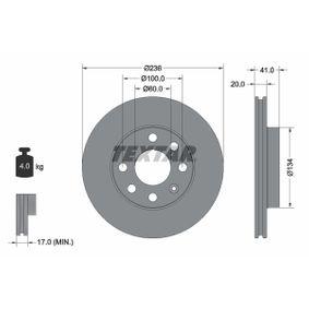 Disco de travão 92029603 TEXTAR Pagamento seguro — apenas peças novas