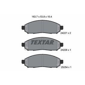 комплект спирачно феродо, дискови спирачки 2422704 за NISSAN LEAF на ниска цена — купете сега!