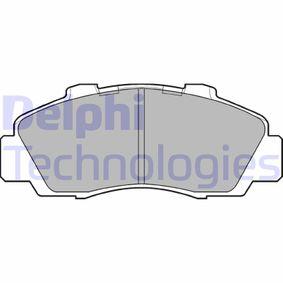 Jogo de pastilhas para travão de disco LP872 com uma excecional DELPHI relação preço-desempenho