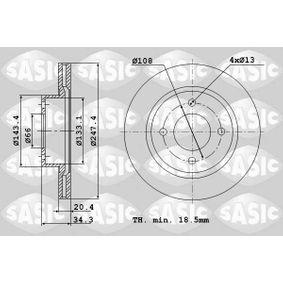 Bremsscheibe von SASIC - Artikelnummer: 2464A74J
