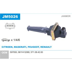 Bobine d'allumage JM5026 QUATTROPORTE IV 2.8 Biturbo 284 CH pièces Offres