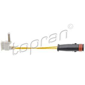 Compre e substitua Sensor, desgaste das pastilhas de travão TOPRAN 401 202