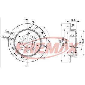 Disque de frein BD-0817 FREMAX Paiement sécurisé — seulement des pièces neuves