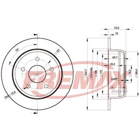 Brake Disc BD-5118 FREMAX Secure payment — only new parts