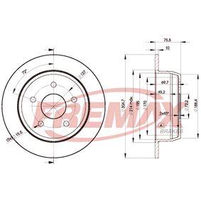 Disco freno BD-5118 FREMAX Pagamento sicuro — Solo ricambi nuovi