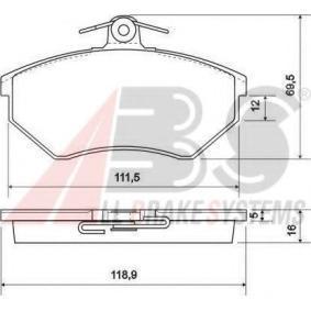 Kit pastiglie freno, Freno a disco 36790 OE per VW CORRADO a prezzo basso — acquista ora!