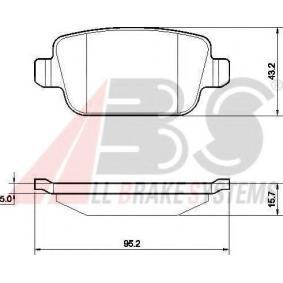 Bromsbeläggssats, skivbroms 37561 OE för VOLVO XC70 till rabatterat pris — köp nu!