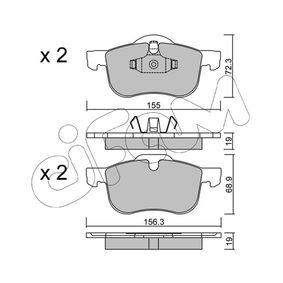 Bromsbeläggssats, skivbroms 822-309-0 V70 II (SW) 2.4 140 HKR originaldelar-Erbjudanden