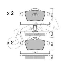 Bromsbeläggssats, skivbroms 822-348-0 V70 II (SW) 2.4 140 HKR originaldelar-Erbjudanden