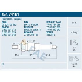 buy and replace Glow Plug FAE 74161