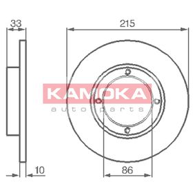 Brake Disc 1032196 KAMOKA Secure payment — only new parts