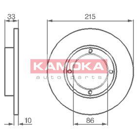 Disque de frein 1032196 KAMOKA Paiement sécurisé — seulement des pièces neuves