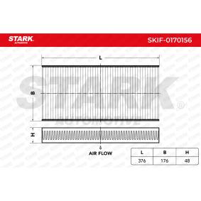 Filtr, vzduch v interiéru SKIF-0170156 pro PEUGEOT nízké ceny - Nakupujte nyní!